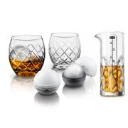 Final Touch - On The Rock Hand Etched  Glass Whisky Set 5pce