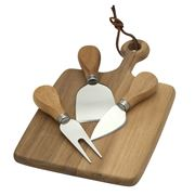 Thatch - Cheese Board and Knives Set 4pce