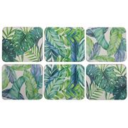 Cinnamon - Tropical Leaves Coaster Set 6pce