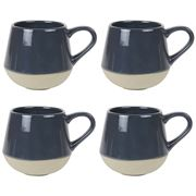 Robert Gordon - Bottoms Up Mug Set Charcoal 4pce
