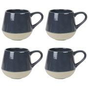Robert Gordon - Bottoms Up Mug Set Charcoal 4pce