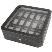 Wolf - Windsor 15pce Watch Box Black