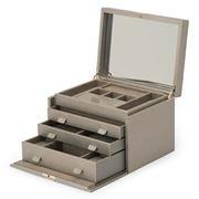 Wolf - Palermo Jewellery Box Large Pewter