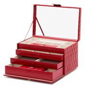 Wolf - Caroline Jewellery Box Large Red