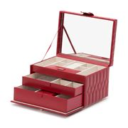 Wolf - Caroline Jewellery Case Medium Red