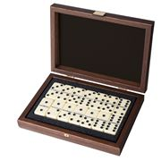 Manopoulos - Domino Set in L/Brown Leather Ostrich Tote Case