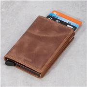 Secrid - Vintage Cognac Rust Leather Slim Wallet