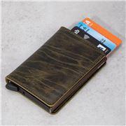 Secrid - Dutch Martin Olive Leather Slim Wallet