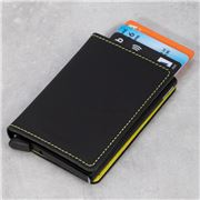 Secrid - Matte Black & Yellow Leather Slim Wallet