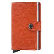 Secrid - Crisple Orange Leather Mini Wallet