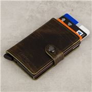 Secrid - Dutch Martin Olive Leather Mini Wallet