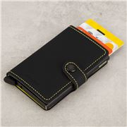 Secrid - Matte Black & Yellow Leather Mini Wallet