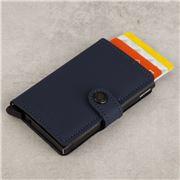 Secrid - Matte Night Blue Leather Mini Wallet