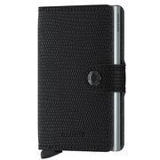 Secrid - Black/Silver Rango Leather Mini Wallet