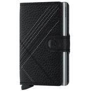 Secrid - Black/Silver Stitch Linea Leather Mini Wallet