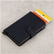 Secrid - Dash Navy Leather Mini Wallet
