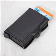 Secrid - Black Perforated Leather Twin Wallet
