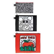 LOQI - Keith Haring New York Zip Pocket Set 3pce