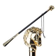 Walking Sticks - Shoehorn Long Horse with Bridle Gold