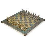 Manopoulos - Greek Mythology Chess Set w/ Turq. Board 54cm