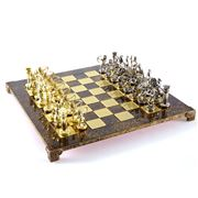 Manopoulos - Archers Chess Set with Brown Board 44cm