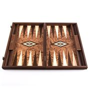 Manopoulos - Backgammon Walnut Burl 48cm x 30cm