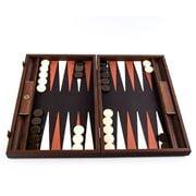 Manopoulos - Crocodile Tote Backgammon Brown Leather