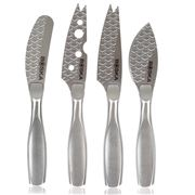 Boska - Pro Monaco+ Cheese Knife Silver Set 4pce