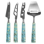 Boska - Van Gogh Museum Almond Blossom Cheese Knife Set 4Pce