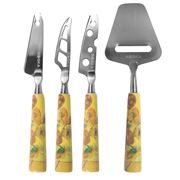 Boska - Van Gogh Museum Cheese Knife Sunflowers Set 4pce