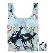 Ashdene - Tote Bag Reusable Australian Bird & Flora Magpie