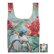 Ashdene - Tote Bag Reusable Aust. Bird & Flora Blue Wren