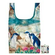 Ashdene - Tote Bag Reusable Australian Bird & Flora Penguin