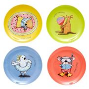 Ashdene - Summer Holidays Melamine Assorted Plate Set 4pce