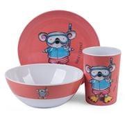 Ashdene - Summer Holidays Melamine Set 3pce Koala