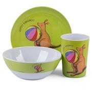 Ashdene - Summer Holidays Melamine Set 3pce Kangaroo