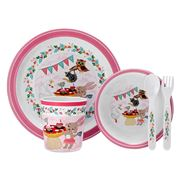 Ashdene - Kids Tea Party Melamine Dinner Set 5pce