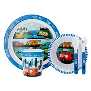 Ashdene - Kids On The Road Melamine Dinner Set 5pce