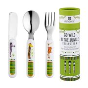 Ashdene - Kids Cutlery Set  Go Wild In The Jungle 3pce
