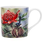 Ashdene - Australian Bird & Flora Blue Wren & Waratah Mug