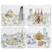 Ashdene - Cityscapes Melbourne Coaster Set 4pce