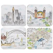 Ashdene - Cityscapes Sydney Coaster Set 4pce