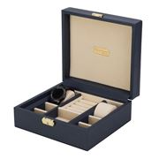 Renzo - Jewellery Case Navy Blue