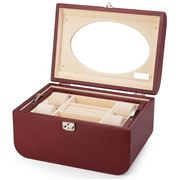 Renzo - Leather Jewellery Box Burgundy