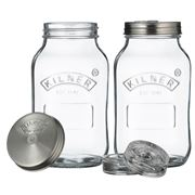 Kilner - Fermentation Jar 1 Litre Set 2pce