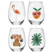 Bouffants & Broken Heart - Jungle Queen Tumbler Set 4pce