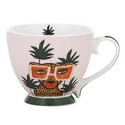 Bouffants & Broken Heart - Jungle Queen Fem Feline Jumbo Mug