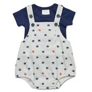 Marquise - Short and T-Shirt Set 2pce Navy/Grey Size 000