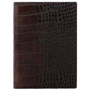 Letts - 2020 Croc A5 Week To View Diary Brown