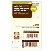 Filofax - Mini Week On Two Pages Cream 2020 Diary Refill